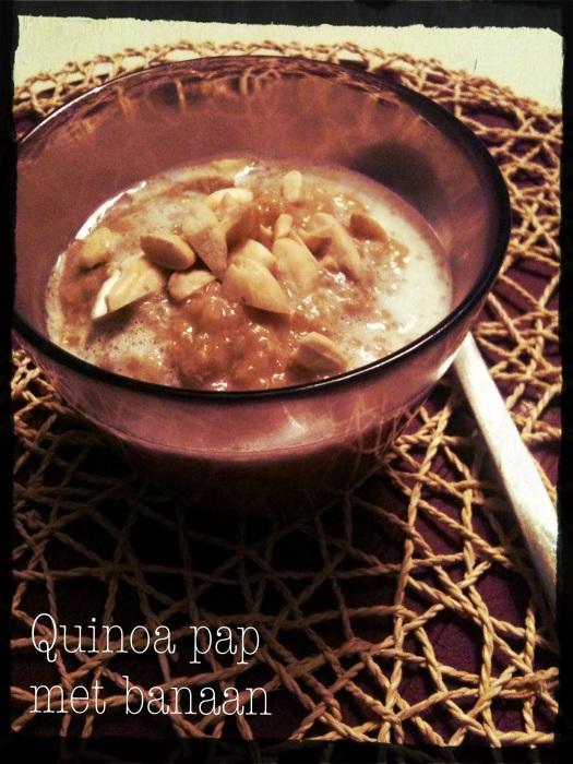 Quinoa-pap met kokos en banaan