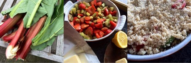 keukengeheim aardbeien rabarber crumble