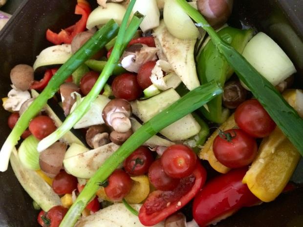 Keukengeheim recept geroosterde groenten met spelt en halloumi