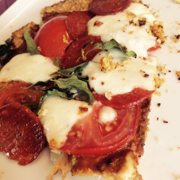 Pizza bodem van bloemkool